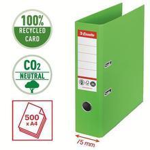 """Pořadač """"No.1"""", zelená, 75 mm, ochranné spodní kování, ESSELTE - 6/6"""