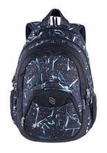 """Batoh """"Teens Blue Spark"""", modrá, 2v1, přihrádka na notebook a audio konektor, PULSE"""