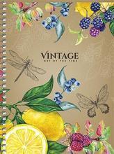 """Spirálový sešit """"Vintage"""", mix, B6, čtverečkovaný, 120 listů, SHKOLYARYK"""