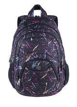 "Batoh ""Teens Violet Spark"", černá-fialová, 2v1, přihrádka na notebook a audio konektor, PULSE"