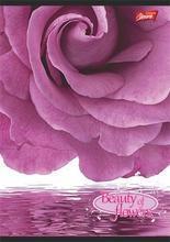 """Blok na psaní """"Beauty of Flowers"""", čtverečkovaný, drátěná kroužková vazba, A4, 80 listů, UNIPAP"""