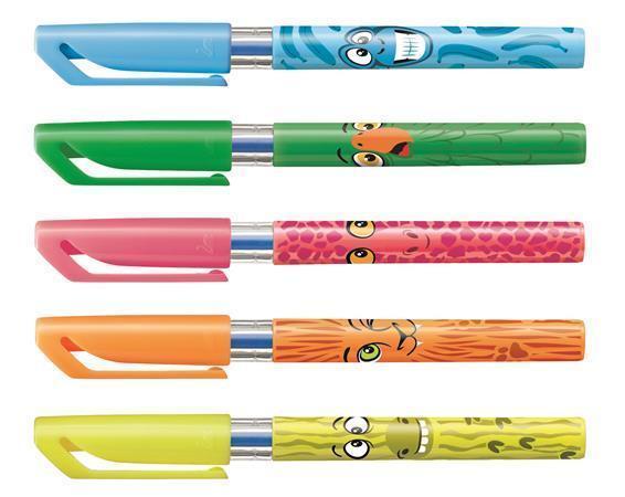 "Kuličkové pero ""Excel Mini Funnimals"", různobarevné motivy, displej, s víčkem, 0,4 mm, modré, STABIL"