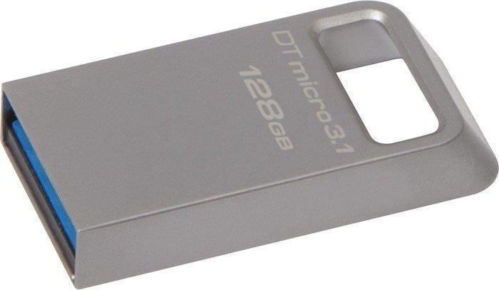 "USB flash disk ""Data Traveler Micro"", stříbrná, 128GB, USB 3.1, 100/15MB/s, KINGSTON"