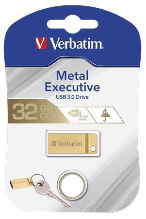"32GB USB flash disk ""Executive Metal"", USB 3.0, VERBATIM"