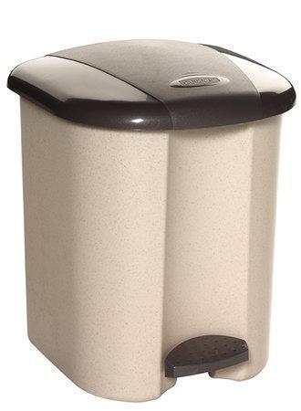 Odpadkový koš, hnědá/béžová, pedálový, plastový, 15 l, CURVER