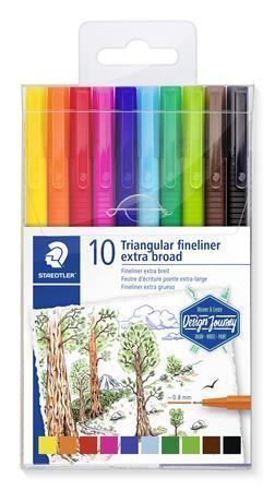 "Broadlinery ""Design Journey Triplus"", 0,8 mm, sada, 10 barev, STAEDTLER"