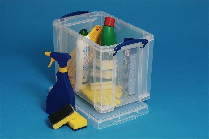 Box, plastový, s víkem, 19 l, průhledný, REALLY USEFUL
