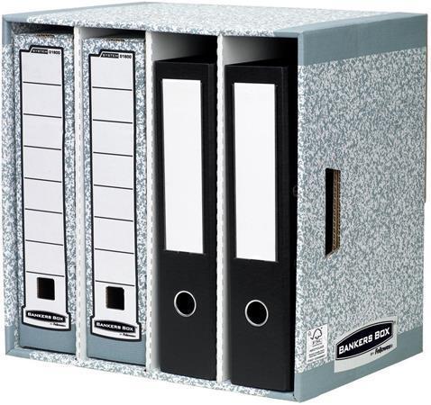 """Zásuvkový odkladač dokumentů """"Bankers Box®"""", 4 zásuvky, karton, FELLOWES"""