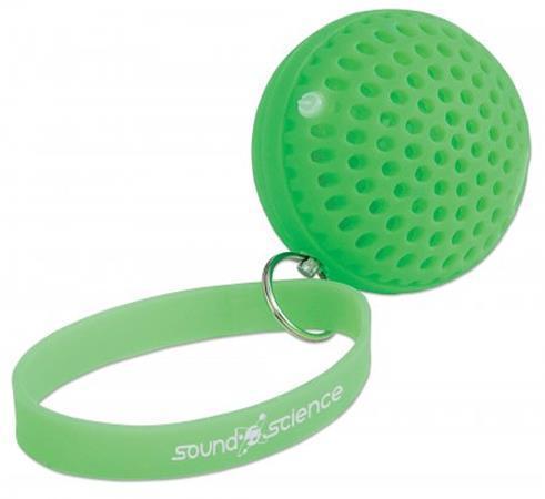 "Mini reproduktor ""Atom Glowing"", zelená, přenosný, bezdrátový, Bluetooth, MANHATTAN"