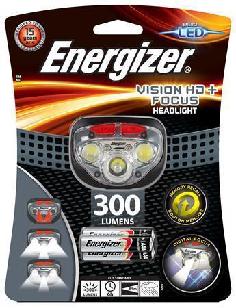 "Čelovka ""Headlight Vision HD Focus"", 3 LED, 3xAAA, ENERGIZER"