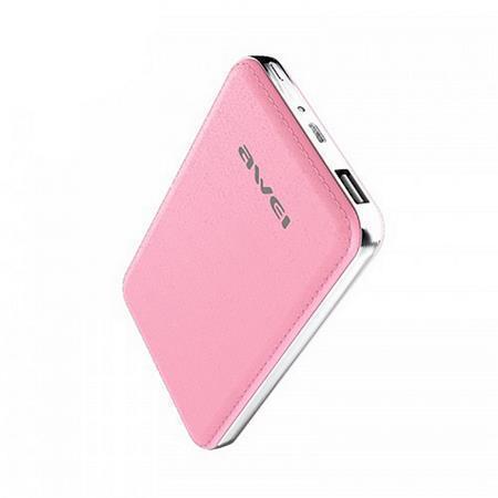 """Portable power bank """"P84K"""" - přenosná baterie, růžová, 10400 mAh, AWEI"""