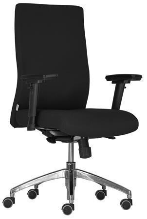 """Kancelářská židle """"BOSTON 24"""", černá, textilní, chromový podstavec, s opěrkou ruk"""