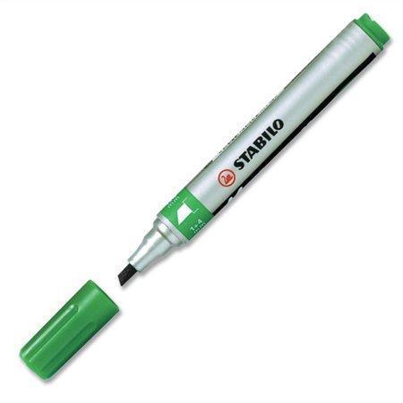 """Permanentní popisovač """"Mark-4-all"""", zelená, 1,5-2,5mm, klínový hrot, STABILO"""