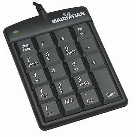 "Numerická klávesnice ""176354"", drátová, USB, MANHATTAN"