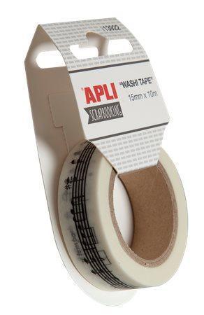 """""""Washi páska"""", lepicí páska, 15 mm x 10 m, APLI, hudba"""