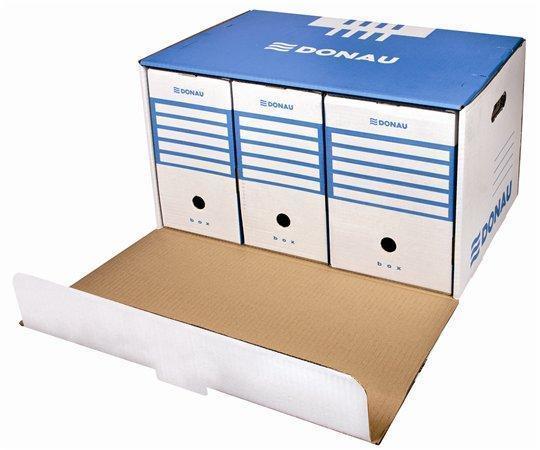Archivační kontejner, modrá, přední otvírání, DONAU