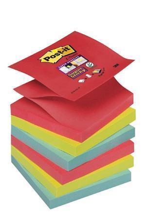 """Samolepicí bloček """"Super Sticky"""", Bora Bora, """"Z"""", 76x76 mm, 6x90 listů, 3M POSTIT Počet kusů v balení: 540"""