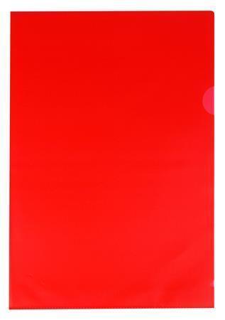 Obal, červený, matný, typ L, A4, 80 micron, VICTORIA