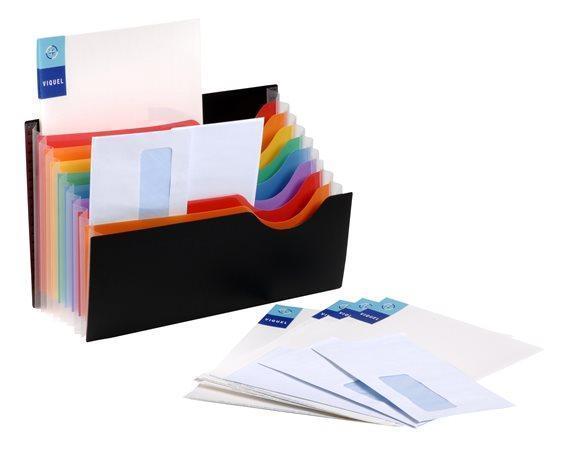 "Aktovka s přihrádkami ""Rainbow Class"", 9 částí, černá, PP, VIQUEL"