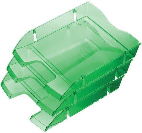 """Odkladač """"Nestable Green Logic"""", transparentní, tmavě zelený, nerozbitný, plastový, HELIT"""