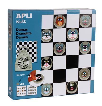 """Desková hra """"Classic games"""", dáma, APLI"""