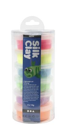 """Clay set, CREOTIME """"Silk Clay"""", 6 assorted colors"""