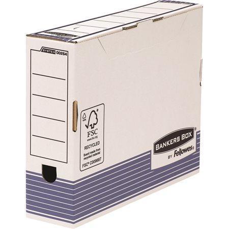 """Archivační krabice """"BANKERS BOX® SYSTEM"""", modrá, 80mm, FELLOWES Počet kusů v balení: 10"""