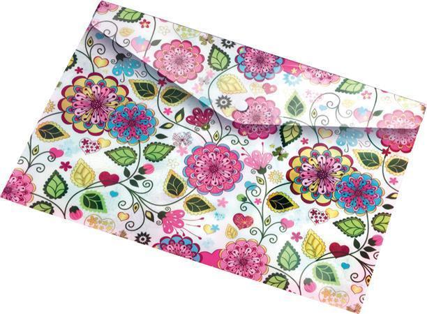 "Desky na dokumenty ""Flowers"", s drukem, A5, PP, 160 micron, PANTA PLAST"
