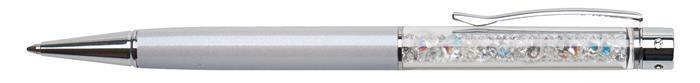 """Kuličkové pero s bílými krystaly v dolní části """"MADE WITH SWAROVSKI ELEMENTS"""", krémově bílá"""