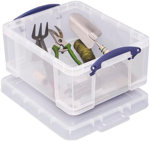 Úložný box s víkem, transparentní, 21 l, plast, REALLY USEFUL