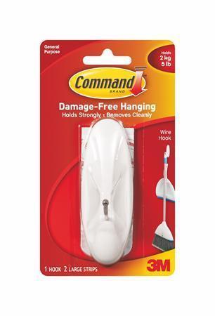 """Kovový přilepovací háček """"Command"""", oválný, 3M SCOTCH"""