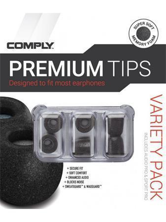 """Speciální nástavce """"Variety Pack Pro SmartCore"""", z paměťové pěny, univerzální, černé, COMPLY"""