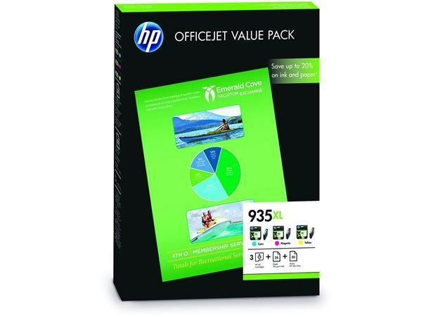 F6U78AE Inkjet cart. pro multipack Officejet Pro 6830, HP 935XL c+m+y+paper A4 75sheet