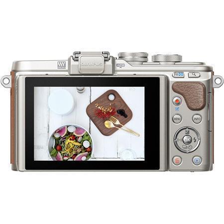 """Digitální fotoaparát, hnědé tělo, OLYMPUS """"E-PL8"""""""