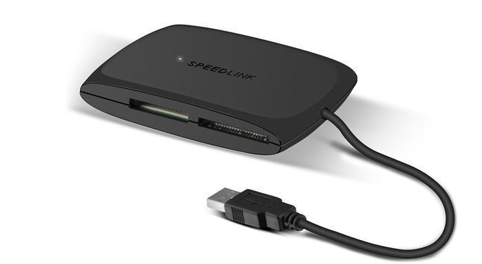 """Čtečka karet """"Snappy"""", černá, univerzální, USB 2.0, SPEEDLINK"""