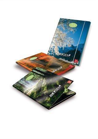"""Desky s gumičkou """"Oxygen Eco"""", karton, 12 mm, A4, PIGNA"""