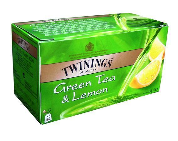 "Zelený čaj ""Green Tea & Lemon"", citrón, 25x1,6 g, TWININGS"