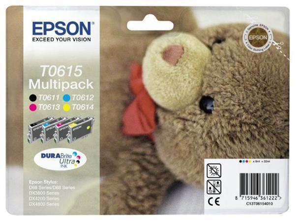 "Inkjet cart.multipack pro ""Stylus D68, D88, D88PE"" tiskárny, EPSON B+C+M+Y, 32ml"