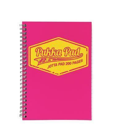 "Blok ""Jotta Neon"", růžová, A5, linkovaný, 100 listů, spirálová vazba, PUKKA PAD"