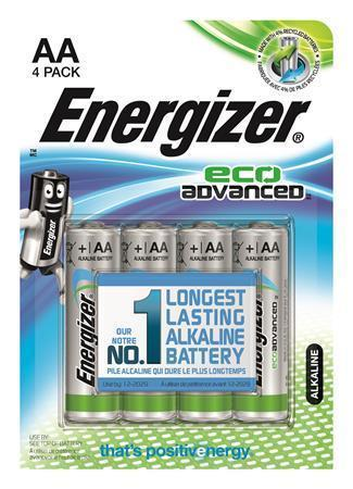 "Baterie ""EcoAdvanced"", AA (tužková), E91, 4 ks, alkalická, ENERGIZER"