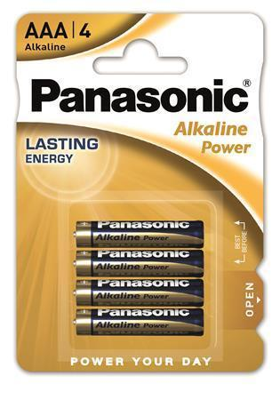 "Baterie ""Alkaline power"", AAA 4 ks, PANASONIC"