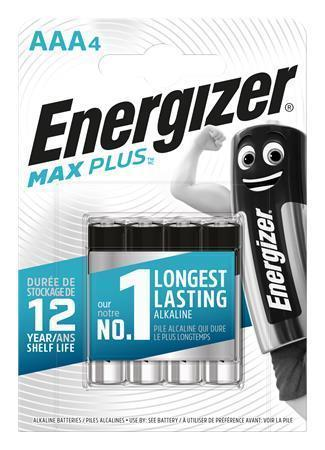 "Battery, AAA, 4pcs, ENERGIZER ""Max Plus"""