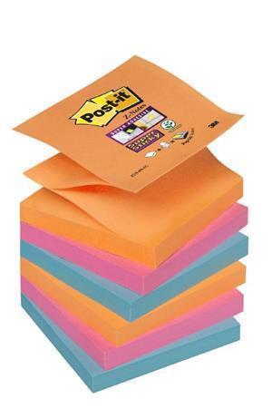 """Samolepicí bloček """"Super Sticky"""" """"Z"""", Bangkok, 76x76 mm, 6x90 listů, 3M POSTIT"""