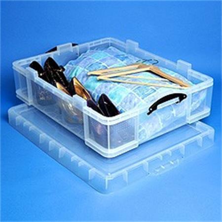 Box, plastový, s víkem, 70 l, průhledný, REALLY USEFUL