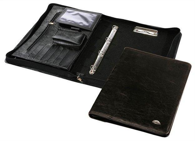 Konferenční desky se zipem, A4, koženka, PANTAPLAST, černé