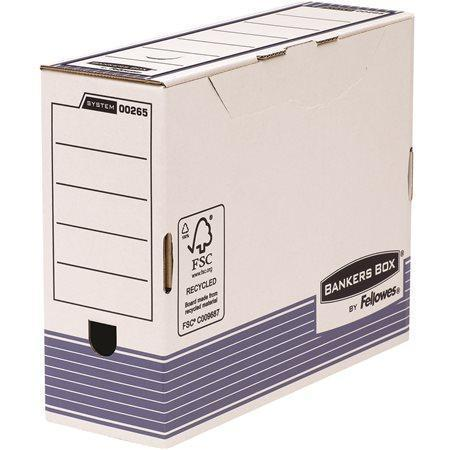 """Archivační krabice """"BANKERS BOX® SYSTEM"""", modrá, 100mm, FELLOWES Počet kusů v balení: 10"""