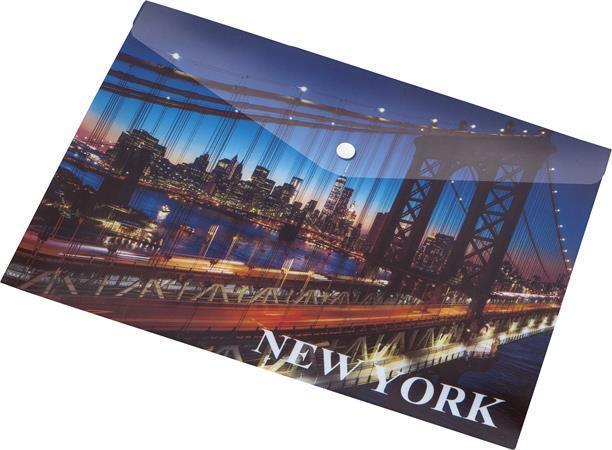 "Desky na dokumenty ""New York"", s drukem, A5, PP, 160 micron, PANTA PLAST"