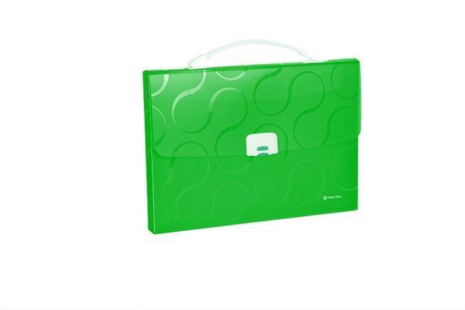 """Aktovka na spisy """"Omega"""", zelená, A4, 1 část, PP, PANTA PLAST"""