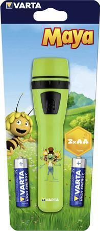 """Svítilna """"Včelka Mája"""", 2xAA, LED, zelená, VARTA"""