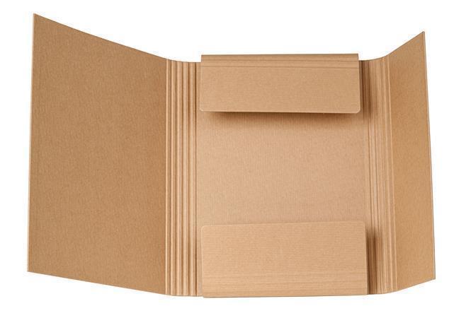 Desky s gumičkou, červená, 25 mm, karton, A4, VICTORIA